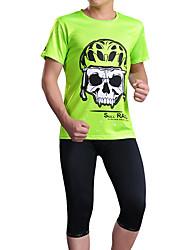 cheap -cheji® Men's Short Sleeve Cycling Jersey Orange+White Sky Blue Yellow Bike Jersey Top Mountain Bike MTB Road Bike Cycling Breathable Sports Polyester Clothing Apparel