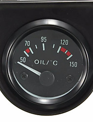 "cheap -Universal 2"" 52mm LED Light Car Black Pointer Oil Temperature Temp Gauge 50-150 Degree Hgh Oil Temperature Alarm"