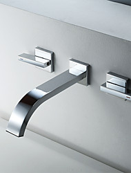 cheap -Bathroom Sink Faucet - Widespread Chrome Other Two Handles Two HolesBath Taps