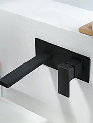 cheap -Bathroom Sink Faucet - Widespread Black Other Single Handle One HoleBath Taps