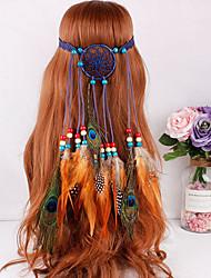 cheap -Gypsy American Indian Adults' Women's Bohemian Retro Ethnic Vacation Dress Halloween Boho Headpiece Feather Samba Headdress For Party Halloween Festival Wood Feathers Net Plush Feathers Vintage