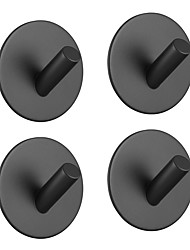 cheap -Adhesive Hooks Heavy Duty 4 pack Durable 304 Stainless Steel Wall Hangers, Waterproof Rustproof Oil Proof for Kitchen, Bathrooms, Doors, Office, Closet-Black