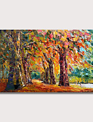 cheap -Oil Painting Hand Painted Landscape Modern Stretched Canvas With Stretched Frame