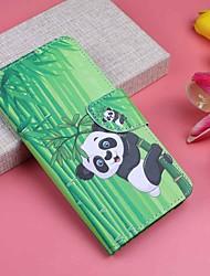 cheap -Case For Sony Xperia XA3 / Sony Xperia XA2 / Sony Xperia XA1 Wallet / Card Holder / with Stand Full Body Cases Plants / Panda Hard PU Leather