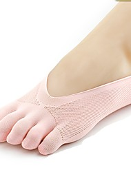 abordables -1 paire Femme Chaussettes Standard Couleur Pleine Antibactérien Style Simple Gel EU36-EU42
