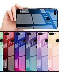cheap -Case For Huawei Huawei P smart / Huawei P Smart Plus Shockproof / Dustproof Back Cover Color Gradient Hard TPU / Tempered Glass