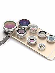 cheap -Mobile Phone Lens Lens with Filter / Fish-Eye Lens / Wide-Angle Lens Glasses / Plastic & Metal / Aluminium Alloy 2X 4 mm 3 m 235 ° Lens with Stand / Creative / New Design