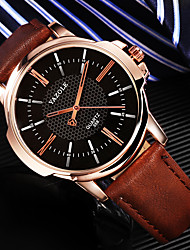 cheap -Men's Dress Watch Analog Quartz Fashion Shock Resistant Casual Watch / One Year / Leather