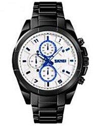 cheap -SKMEI Men's Dress Watch Quartz Black 30 m Water Resistant / Waterproof Bluetooth Alarm Analog Fashion - White Black Blue