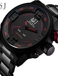cheap -ASJ Men's Digital Watch Digital Fashion Water Resistant / Waterproof Analog - Digital White Red / One Year / Stainless Steel / Japanese / Alarm / Stopwatch