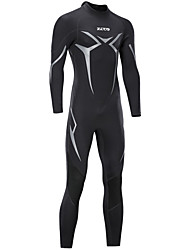 cheap -ZCCO Men's Full Wetsuit 3mm Nylon SCR Neoprene Diving Suit Thermal Warm Windproof Long Sleeve Back Zip - Diving Water Sports Solid Colored Letter & Number Autumn / Fall Winter Spring / Stretchy