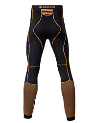cheap -Men's Compression Pants Compression Base layer Tights Bottoms Lightweight Breathable Quick Dry Soft Sweat-wicking Black / Orange Winter Road Bike Mountain Bike MTB Basketball Stretchy