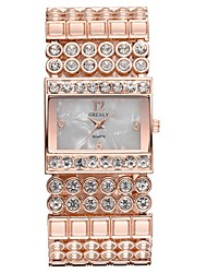 cheap -Women's Luxury Watches Quartz Watches Luxury Elegant Silver Gold Rose Gold Stainless Steel Japanese Quartz Gold Silver Rose Gold Chronograph Cute New Design 1 pc Analog Two Years Battery Life