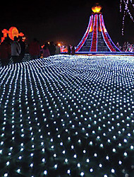 cheap -6*4m String Lights 880 LEDs Warm White / Cold White / Multi Color Waterproof / Party / Christmas Wedding Decoration 220-240 V 1 set
