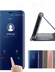 cheap -Case For Xiaomi Mi Note 3 / Xiaomi Mi 8 / Xiaomi Mi 8 SE Plating / Mirror / Flip Full Body Cases Solid Colored Hard Silica Gel / PC / Xiaomi Mi 6
