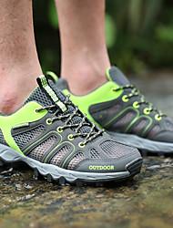 cheap -Men's Sneakers Hiking Shoes Breathable Anti-Slip Comfortable Running Hiking Climbing Autumn / Fall Spring Dark Grey Dark Blue