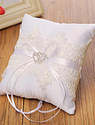 cheap -Fabrics Bowknot / Embroidery Lace Ring Pillow Wedding / Heart All Seasons