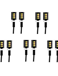 cheap -10pcs Wire Connection Motorcycle / Car Light Bulbs 3 W SMD 5630 60 lm 3 LED Daytime Running Lights / License Plate Lights / Turn Signal Lights For