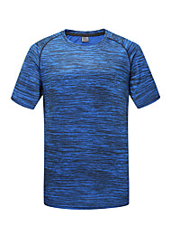 cheap -DZRZVD® Men's Hiking Tee shirt Short Sleeve Outdoor Breathable Quick Dry Fast Dry Sweat-Wicking Tee / T-shirt Top Spring Summer Terylene Crew Neck Running Camping / Hiking Exercise & Fitness Jacinth