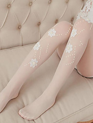 cheap -Nylon Patterned Tights Wedding Garter With Appliques Net Stockings Wedding / Party / Evening