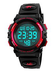 Недорогие -SKMEI Муж. электронные часы Цифровой силиконовый Черный 50 m Защита от влаги Календарь Хронометр Цифровой На каждый день минималист - Красный Синий Золотистый