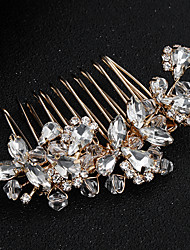 cheap -Crystal / Rhinestone / Alloy Hair Combs with Rhinestone / Crystal 1 Piece Wedding / Daily Wear Headpiece