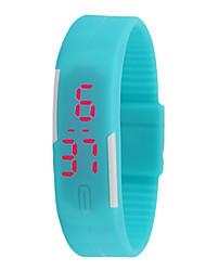 Недорогие -Для пары Спортивные часы Цифровой Синий / Красный Нет ЖК экран Цифровой Мода - Красный Синий Светло-синий Один год Срок службы батареи