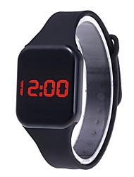 Недорогие -Муж. электронные часы Цифровой силиконовый Черный / Белый / Синий Повседневные часы Милый Цифровой На каждый день Мода - Красный Синий Светло-синий