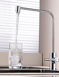 Недорогие -кухонный смеситель - Одной ручкой одно отверстие Электропокрытие Очищенная вода Другое Современный Kitchen Taps