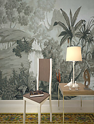 cheap -Wallpaper / Mural Canvas Wall Covering - Adhesive required Painting / Botanical / 3D