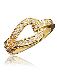 cheap -Women's Ring Cubic Zirconia 1pc Gold Silver 18K Gold Plated Imitation Diamond Round Stylish Luxury Romantic Party Engagement Jewelry Classic Lovely