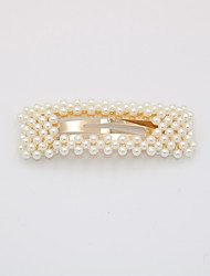 cheap -Women's Party Active Cute Imitation Pearl Alloy Hair Charms Solid Colored