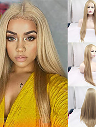 cheap -Synthetic Lace Front Wig Straight Straight Side Part Lace Front Wig Blonde Long Blonde Synthetic Hair 24-26 inch Women's Blonde