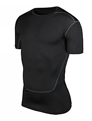 cheap -Men's Compression Shirt Short Sleeve Compression Base layer T Shirt Top Plus Size Lightweight Breathable Quick Dry Soft Sweat-wicking Black Green Grey Spandex Winter Road Bike Mountain Bike MTB