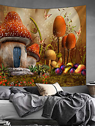 cheap -Garden Theme / Fairytale Theme Wall Decor 100% Polyester Modern Wall Art, Wall Tapestries Decoration