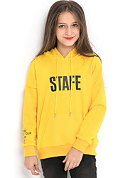 abordables -Enfants Fille Chic de Rue Imprimé Manches Longues Pull à capuche & Sweatshirt Jaune