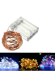 cheap -10M 100 LED Copper Wire Fairy Battery Powered Waterproof String Lights for Christmas Party Decorative