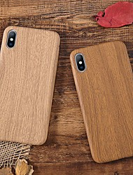 cheap -Case For Apple iPhone XS / iPhone XR / iPhone XS Max Shockproof / Ultra-thin Back Cover Wood Grain Soft TPU