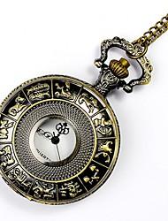 cheap -Men's Pocket Watch Quartz Bronze New Design Casual Watch Cool Analog Vintage New Arrival - Bronze