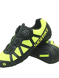 Недорогие -SIDEBIKE Взрослые Обувь для велоспорта Дышащий Противозаносный Горный велосипед Шоссейные велосипеды Велосипедный спорт / Велоспорт Желтый Муж. Жен. Обувь для велоспорта