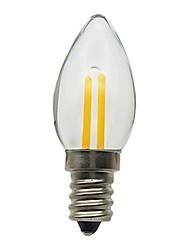 cheap -1pc 1.5 W LED Candle Lights 30 lm E12 1 LED Beads Decorative 180-240 V / RoHS