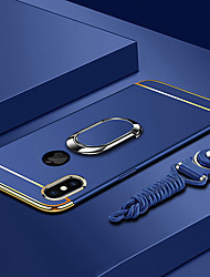 cheap -Case For Apple iPhone XS / iPhone XR / iPhone XS Max Plating / Ring Holder / Ultra-thin Back Cover Solid Colored Hard PC