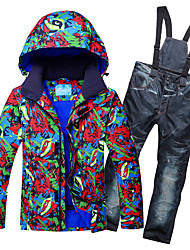 cheap -RIVIYELE Men's Ski Jacket with Pants Skiing Winter Sports Skiing Chinlon Clothing Suit Ski Wear