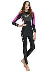 cheap -YOBEL Women's Rash Guard Dive Skin Suit Neoprene Diving Suit Quick Dry Full Body Back Zip - Swimming Diving Snorkeling Solid Colored Letter & Number Autumn / Fall Spring Summer / Winter