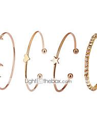 cheap -Women's Bracelet Bangles Classic Stylish Alloy Bracelet Jewelry Gold For Daily