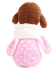 cheap -Dogs Costume Outfits Winter Dog Clothes Pink Costume Corgi Beagle Bulldog 100% Coral Fleece Spots & Checks Bowknot Sweet Style Casual / Daily XS S M L XL