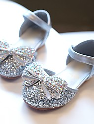 cheap -Girls' Comfort / Flower Girl Shoes PU Sandals Toddler(9m-4ys) / Little Kids(4-7ys) Sparkling Glitter Silver / Blue / Pink Spring / Summer / Wedding / Party & Evening / Wedding / Rubber