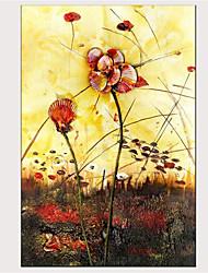 cheap -Print Stretched Canvas Prints - Modern Floral / Botanical Modern Art Prints