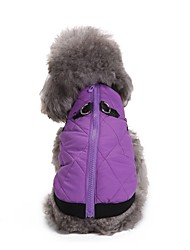 cheap -Dogs Coat Jacket Winter Dog Clothes Purple Orange Red Costume Corgi Beagle Bulldog Terylene Solid Colored Casual / Daily Warm Ups XS S M L XL