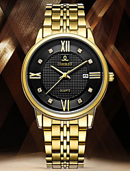 cheap -Men's Dress Watch Quartz Stainless Steel Silver / Gold Water Resistant / Waterproof Calendar / date / day Creative Analog Casual Fashion - Black Silver Golden+Black